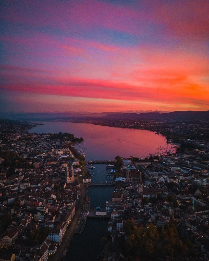 Stadtpanorama von Zürich