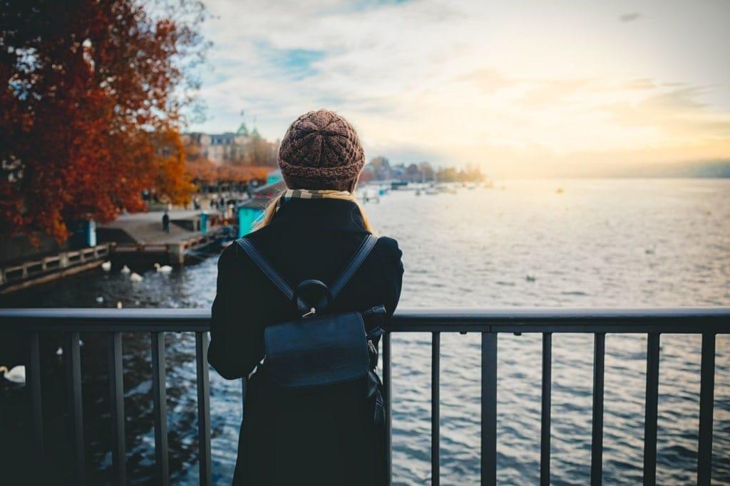 Touristin in Zürich