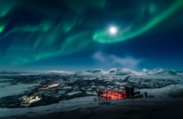 Schwedisch Lappland Nordlichter sehen
