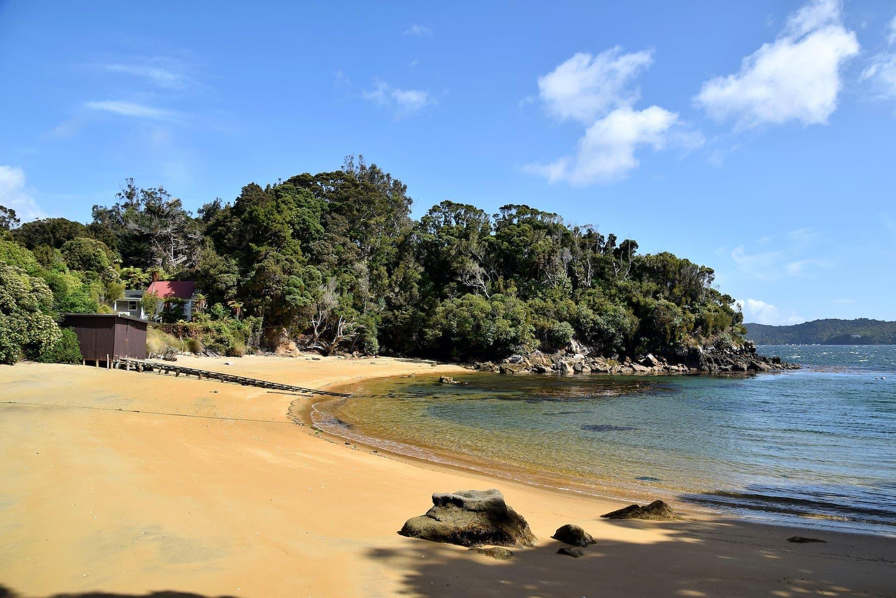 Ulva Island in Neuseeland