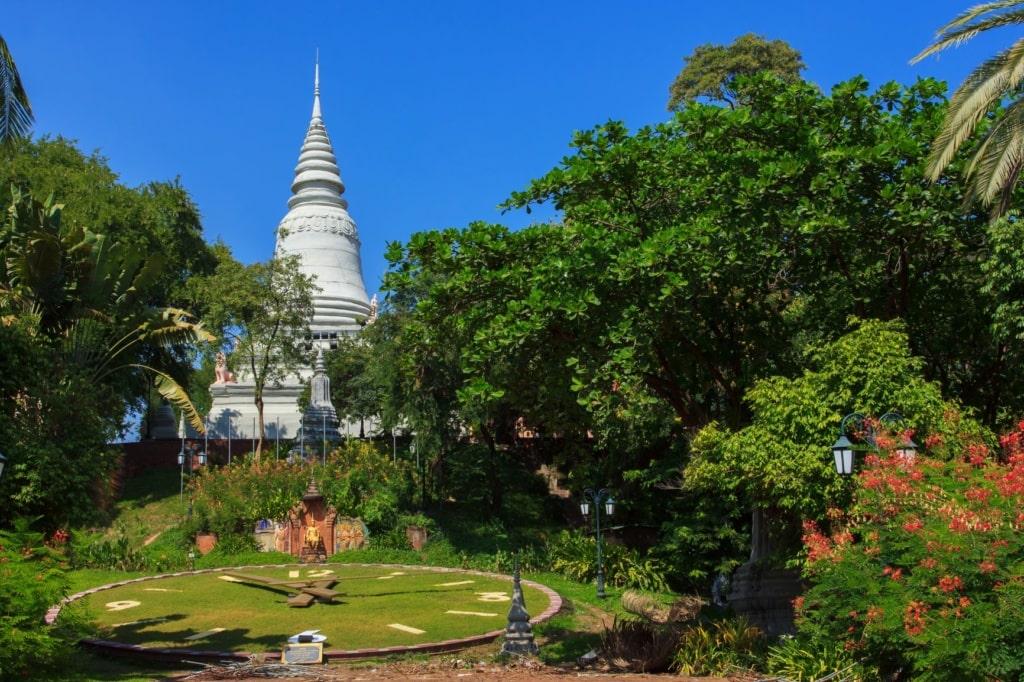 Tempelberg Stupa Wat Phnom Kambodscha
