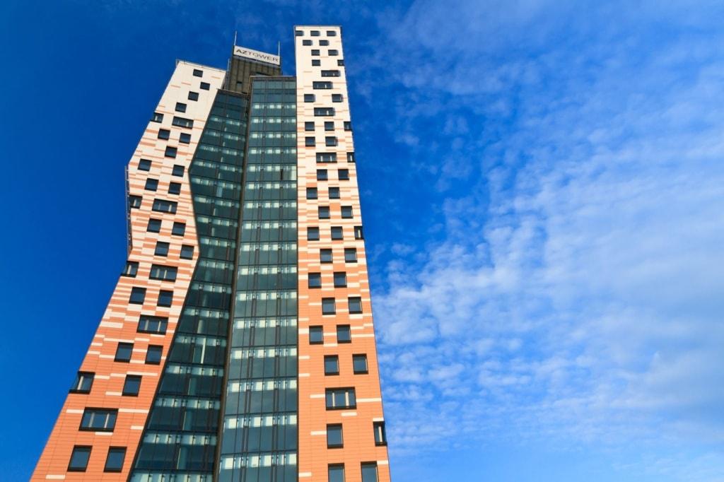 Fassade des AZ Tower in Brünn