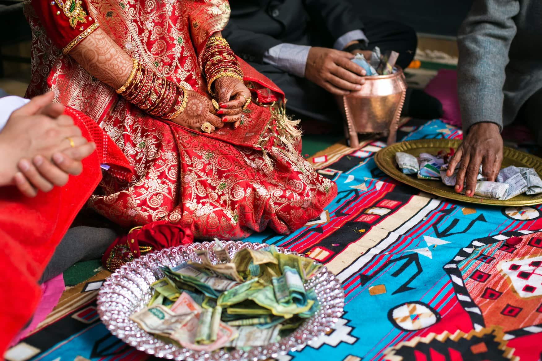 Traditionelle Hochzeit in Nepal