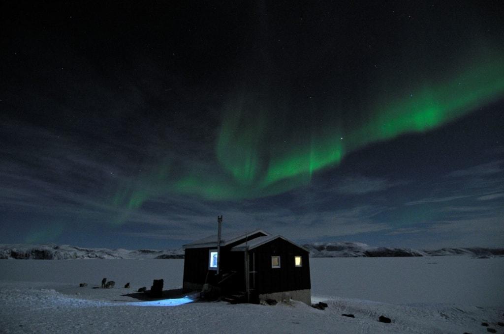 Aurora borealis auf Grönland
