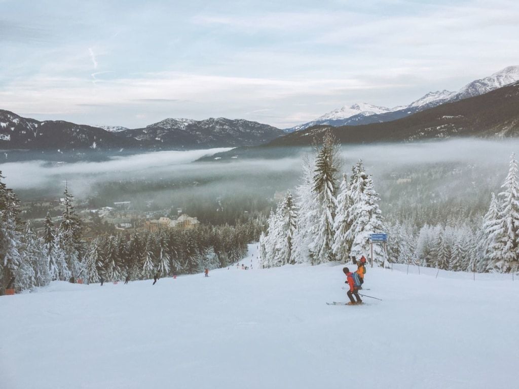 Skifahrer in Blackcomb, Kanada