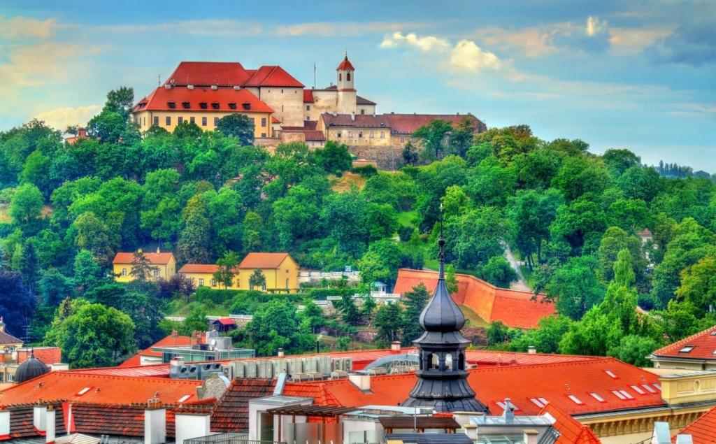 Blick auf Schloss Spilberk Brno