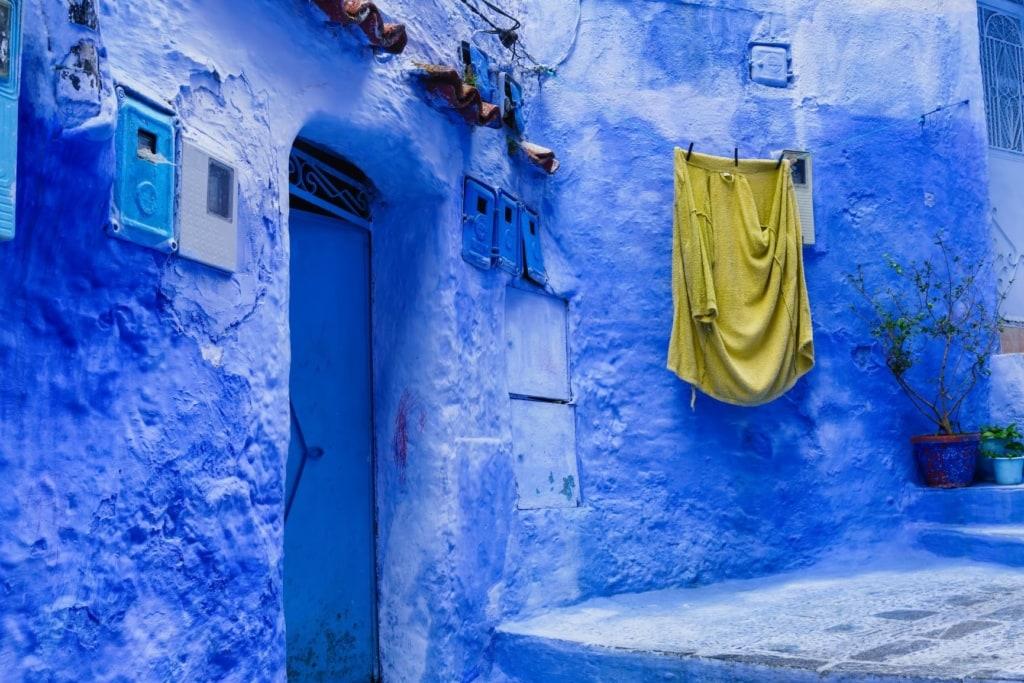 Blaue Städte: Haus in Chefchaouen in Marokko