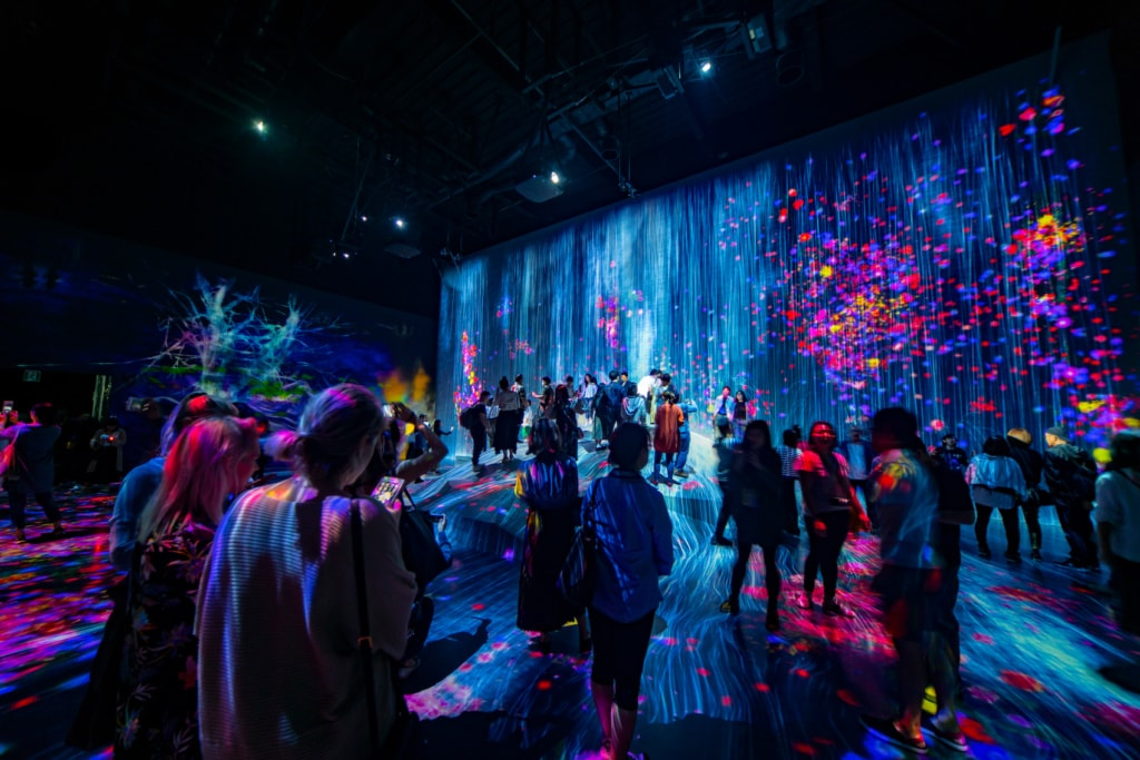 Im Digital Art Museum in Tokio kommt man aus dem Staunen gar nicht raus.