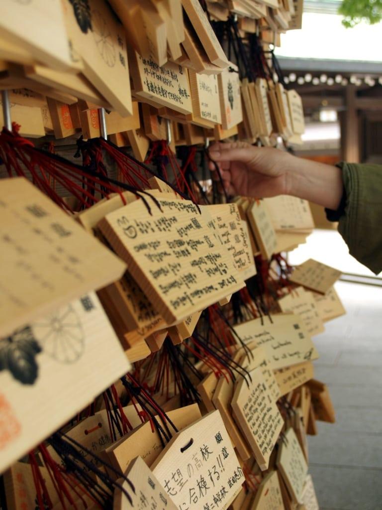 Ema-Holztafeln in Tokio