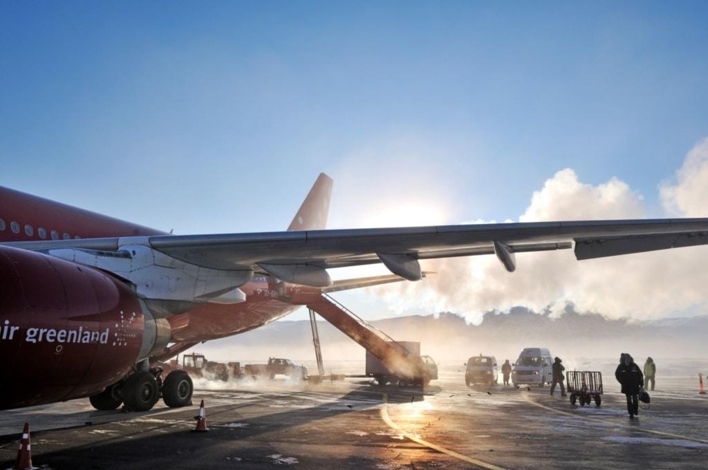 Flugzeug von Air Greenland auf Grönland