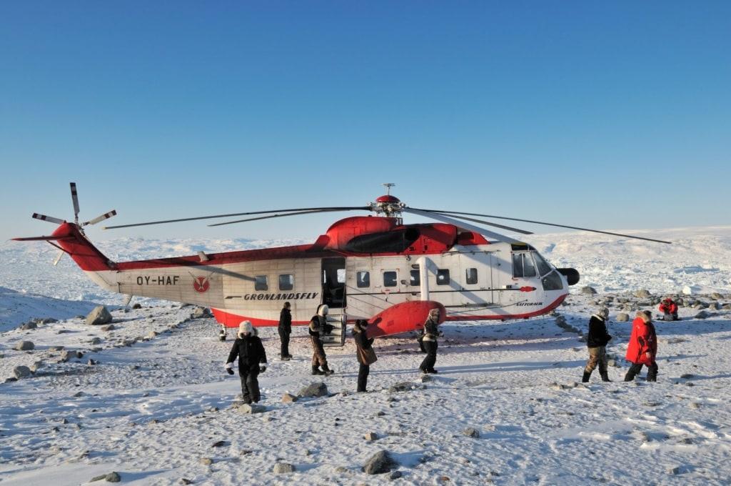 Hubschrauber auf Grönland