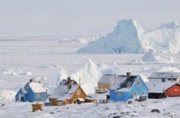 Häuser in Ilulissat auf Grönland