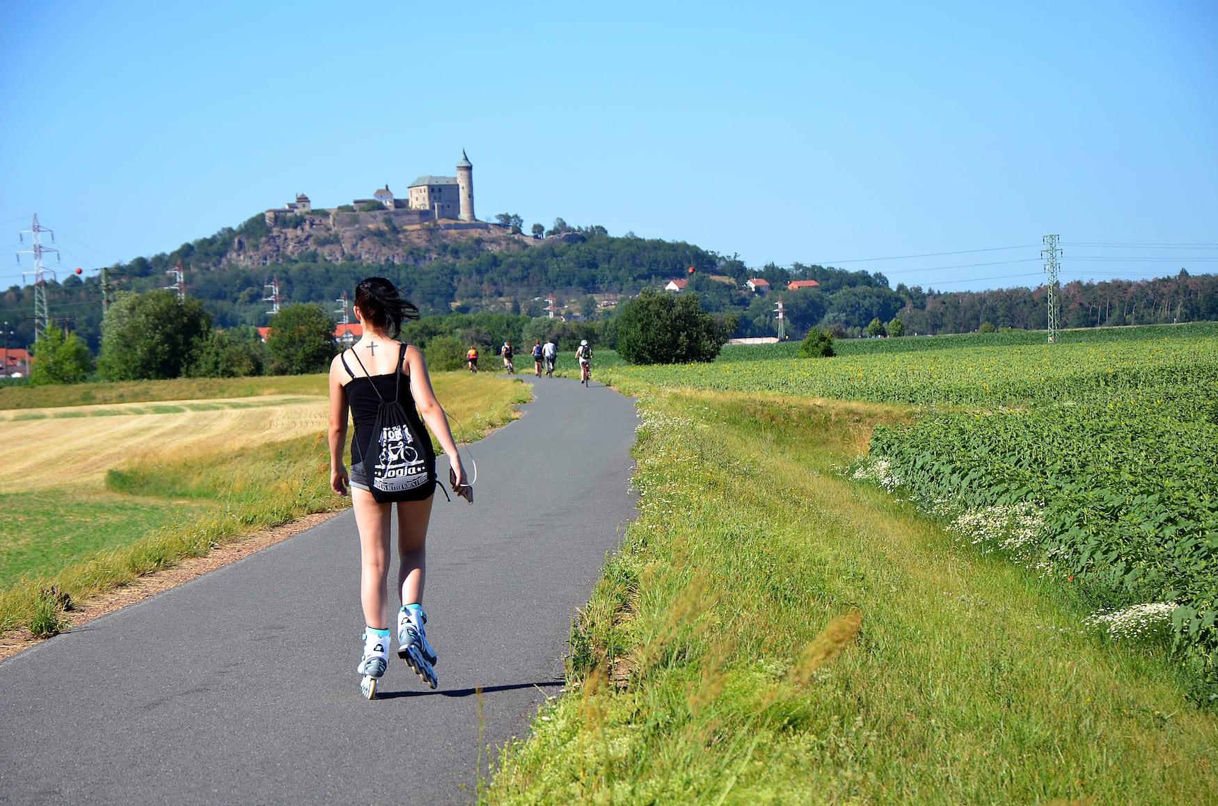 Fahrradtour an der Elbe