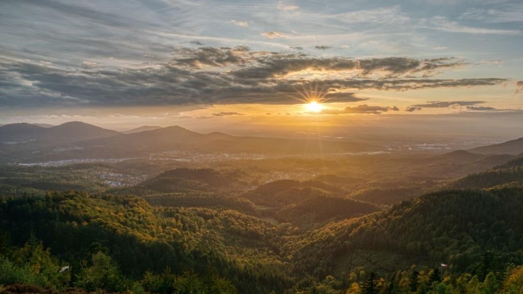 Blick auf Panorama des Schwarzwalds