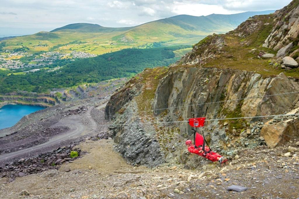 Outdoor-Unternehmungen in Wales: Zipling