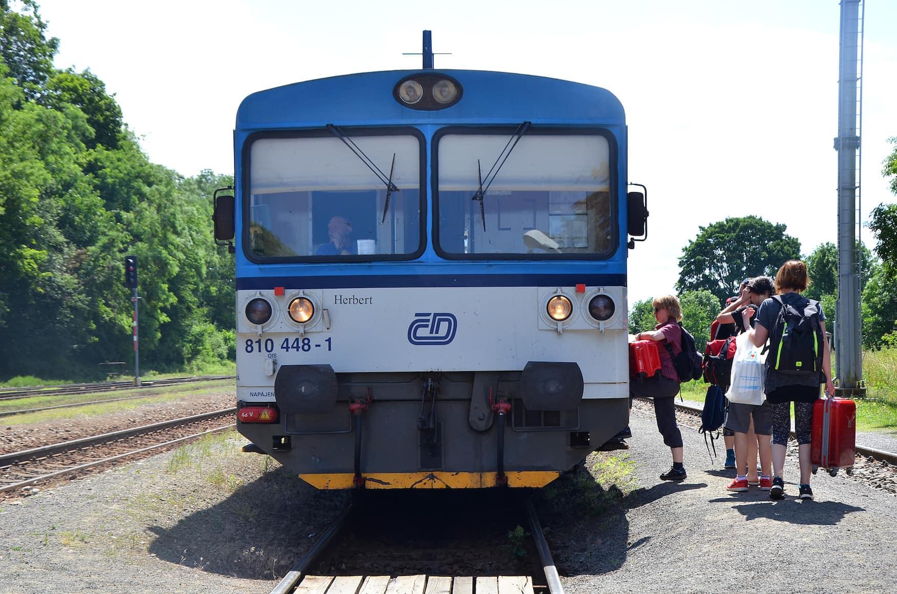 Zug nach Tschechien