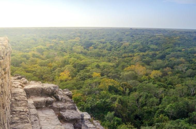 Blick von der Coba Pyramide in Yucatan, mexiko