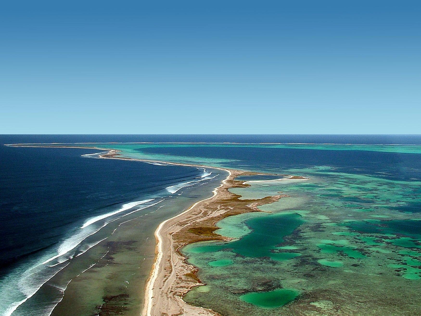 Blick auf die Abrolhos Islands im Indischen Ozean