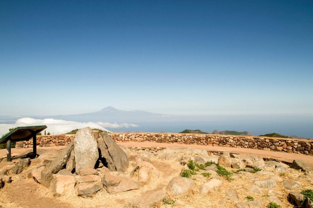 Guanche-Heiligtum auf dem Gipfel des Garajonay-Berges