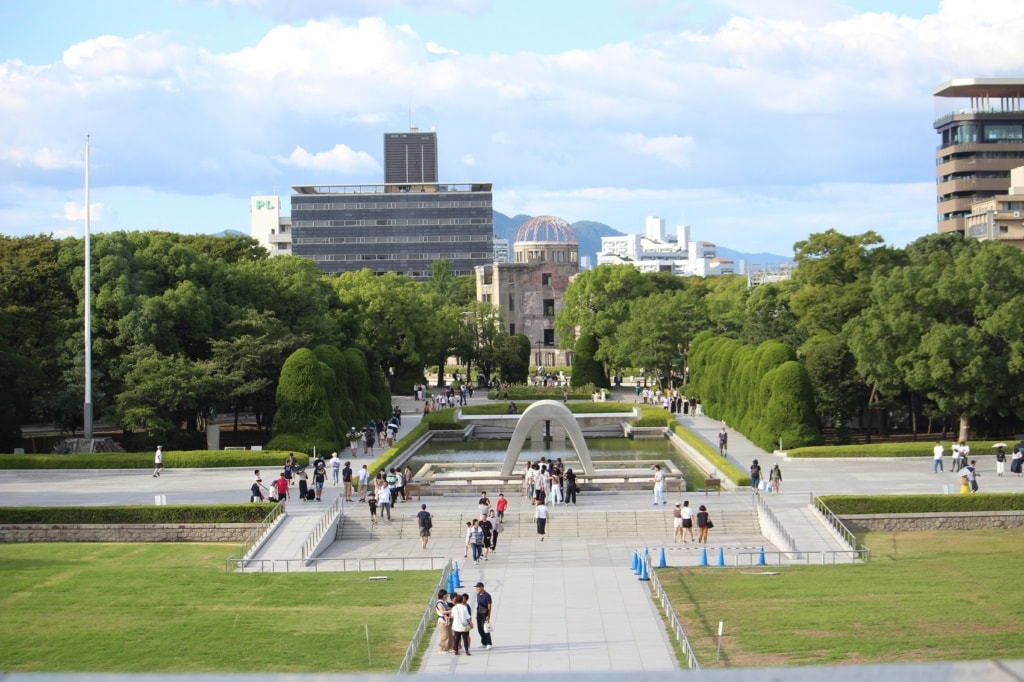 Der Friedenspark von Hiroshima.