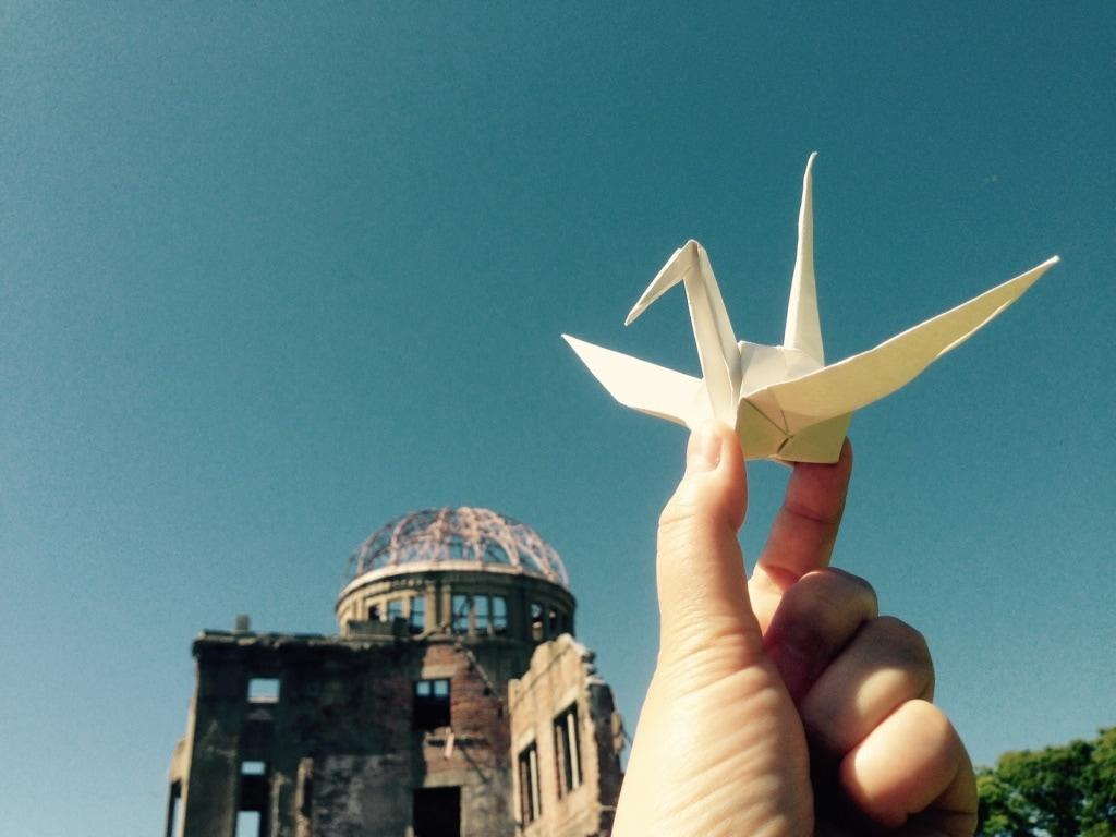 Der Kranich ist heute das Symbol von Hiroshima.