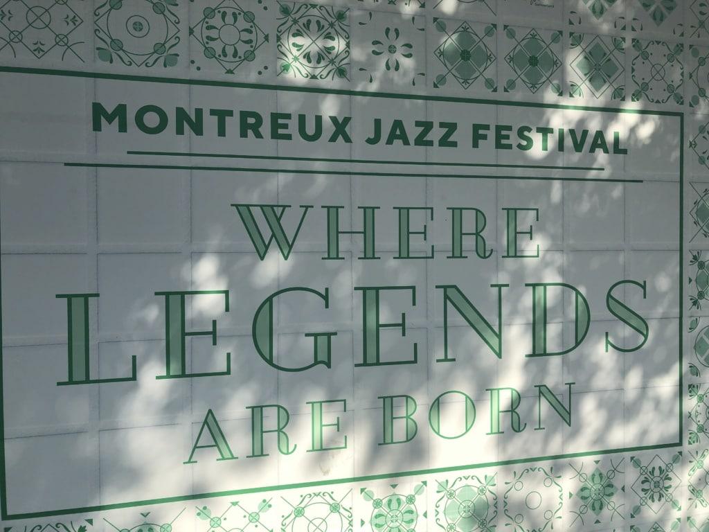 Fliesen in Montreux zu Jazzfestival