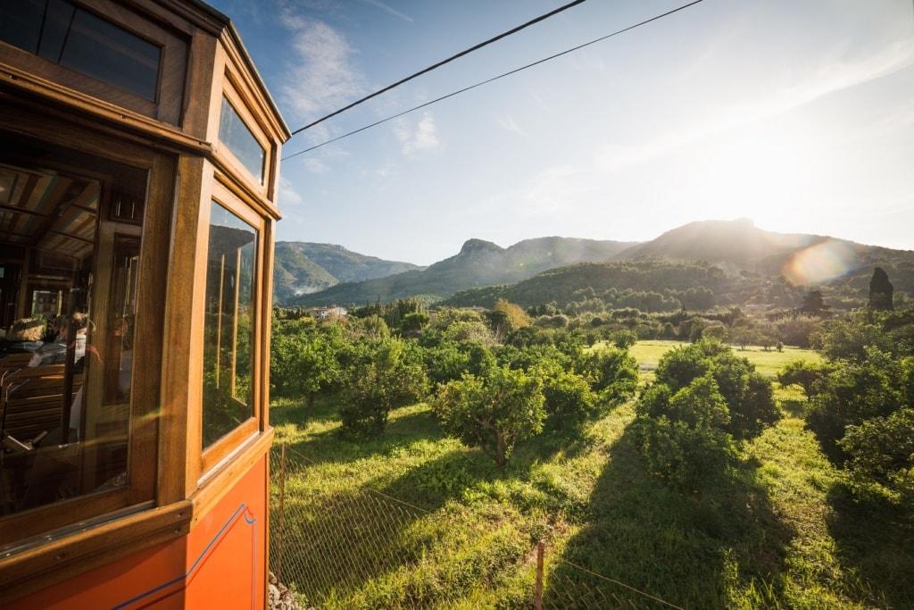 Eine Fahrt mit der historischen Bahn nach Sóller sollte jeder Mallorca-Besucher machen.