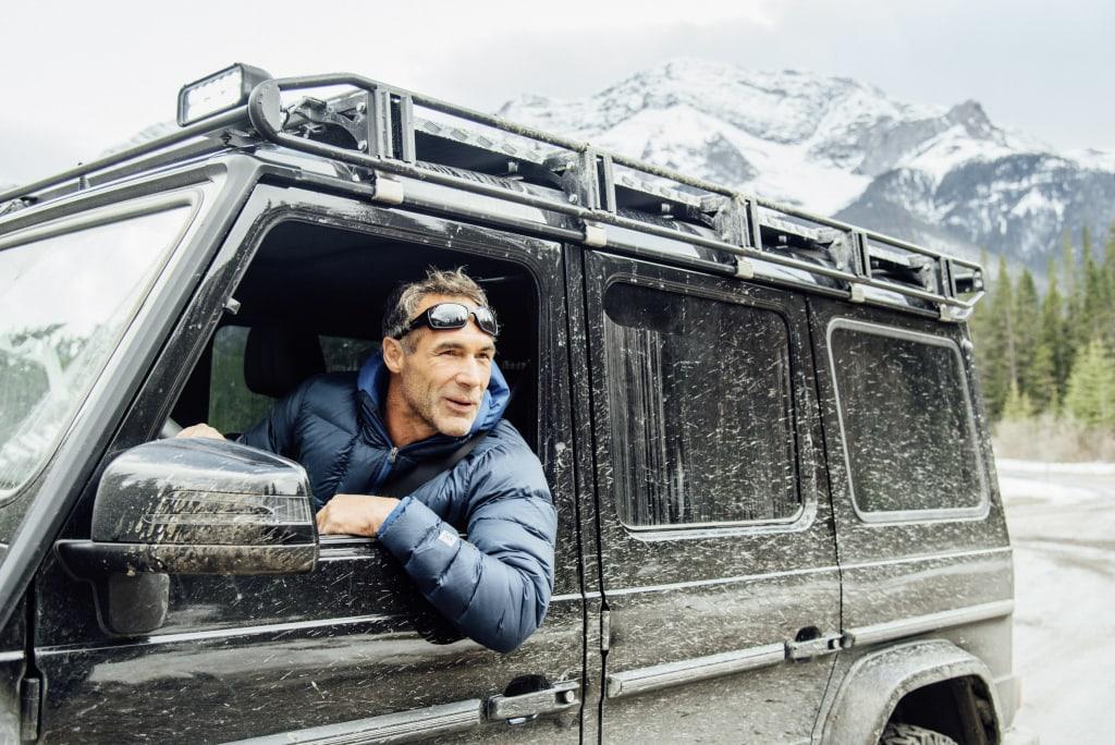Mike Horn auf seiner Expedition unterwegs in der Mercedes-Benz G-Klasse