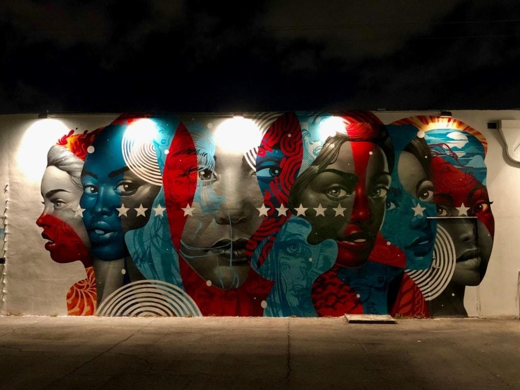 Mural in Winewood Malls, Miami