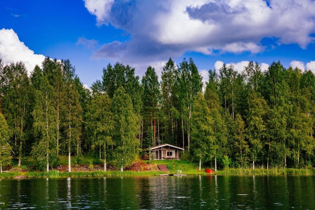 Insel zum Verkauf: Wie wäre es mit einer einsamen Blockhütte in Finnland?