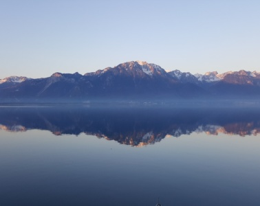 Genfer See in Montreux