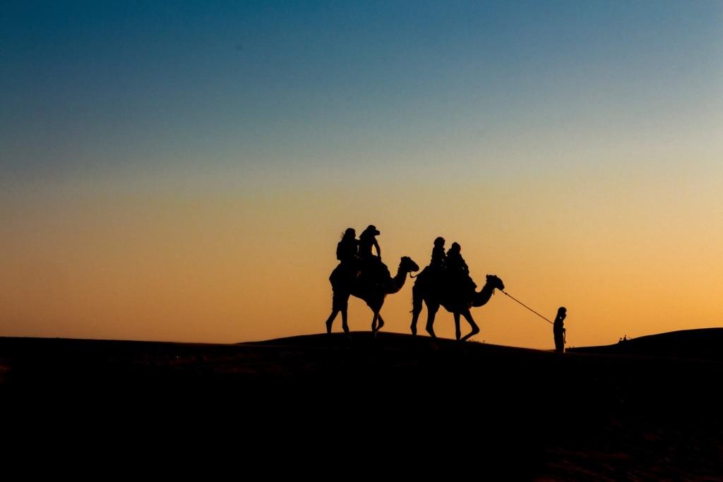 Kamelritt durch die Wüste bei Sharjah