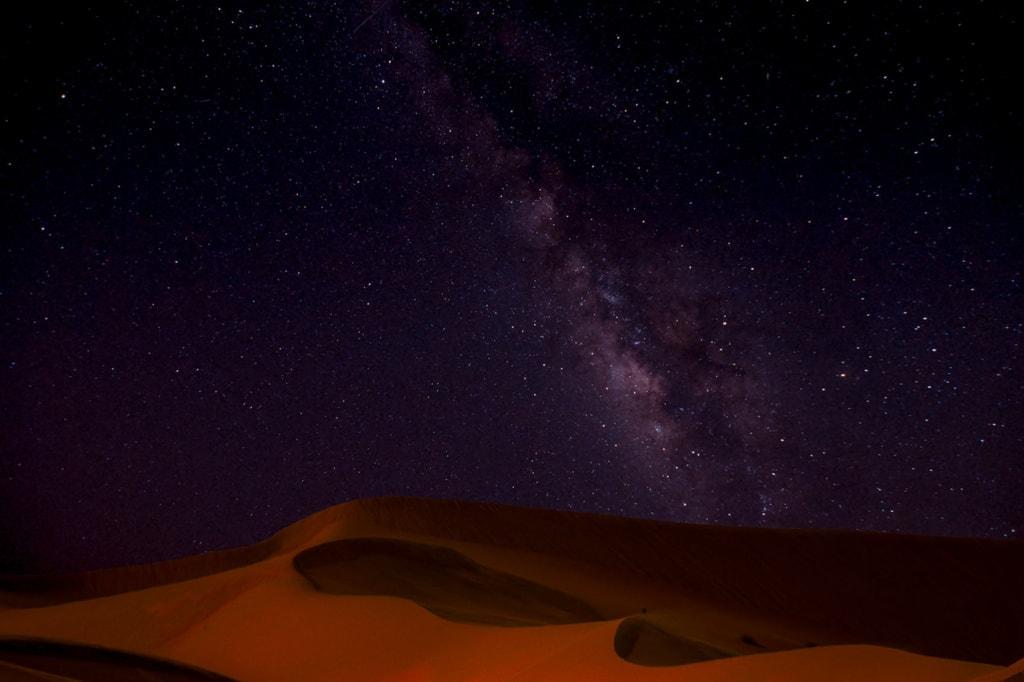 Sternenhimmel über der Wüste der VAE