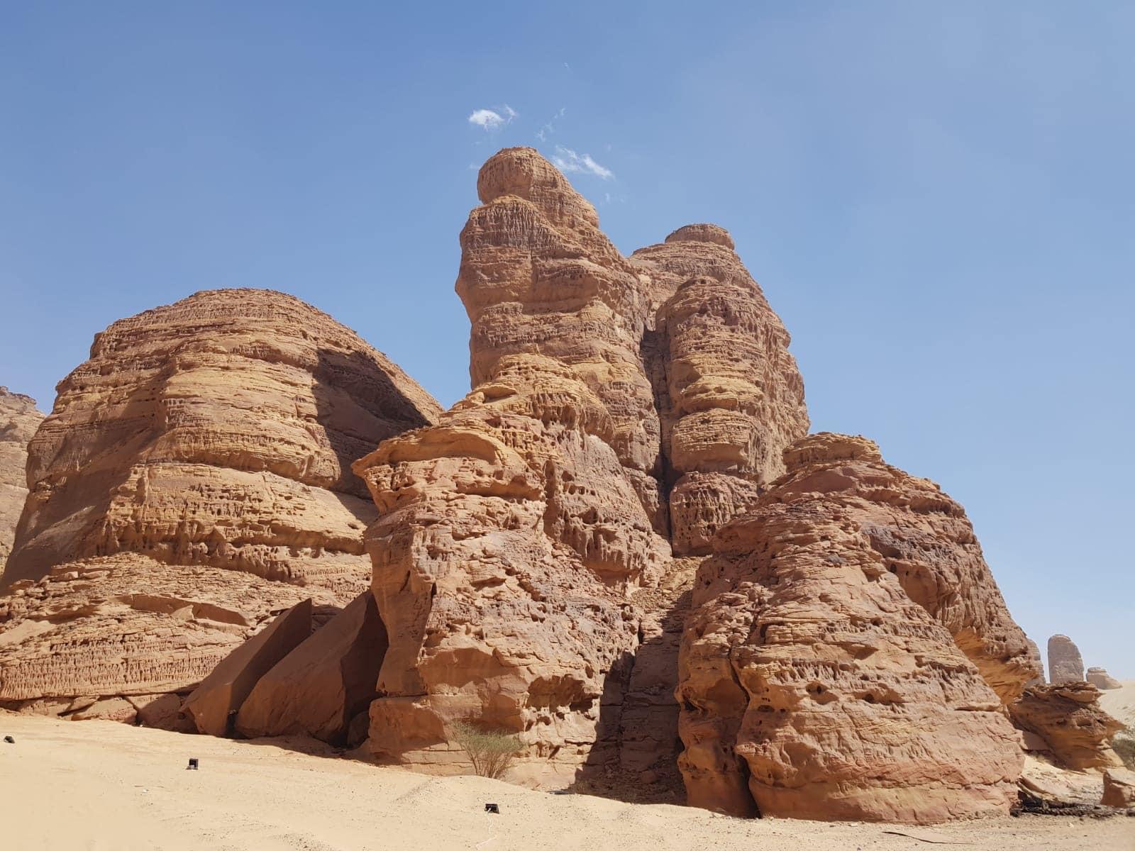 Felsen in Wüste Saudi Arabiens