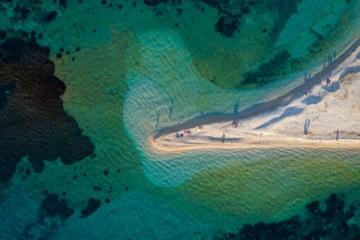 Agios Pavlos Strand aus der Vogelperspektive