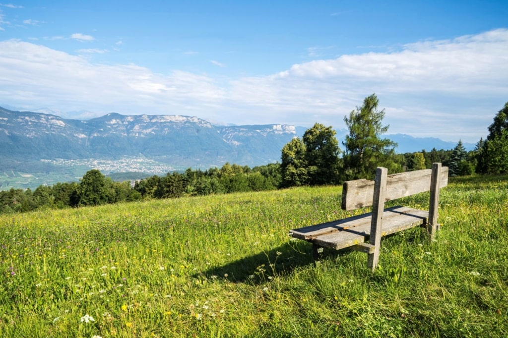 Aussichtsbank in Aldein-Radelein, Südtirol