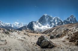 Basecamp im Himalaya-Gebirge in Nepal