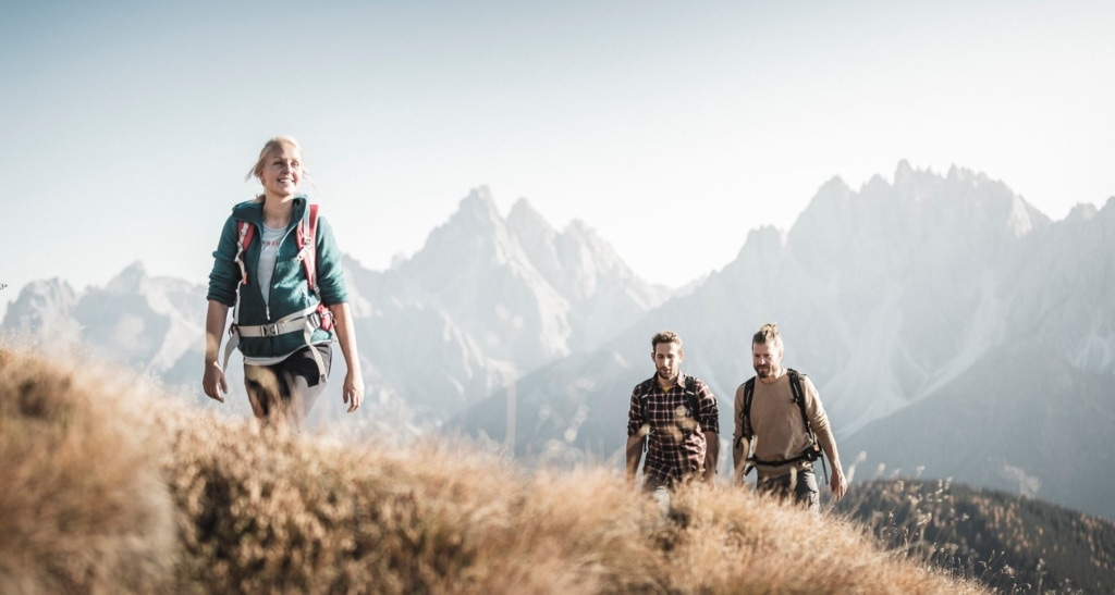 Junge Wanderer in Südtirol