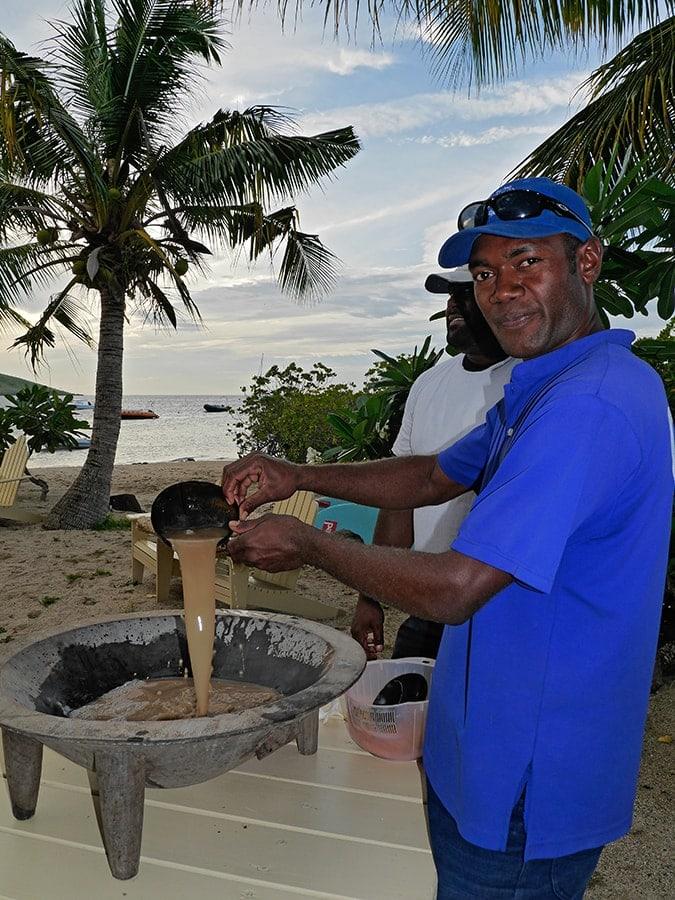 Kava-Zeremonie auf Fiji