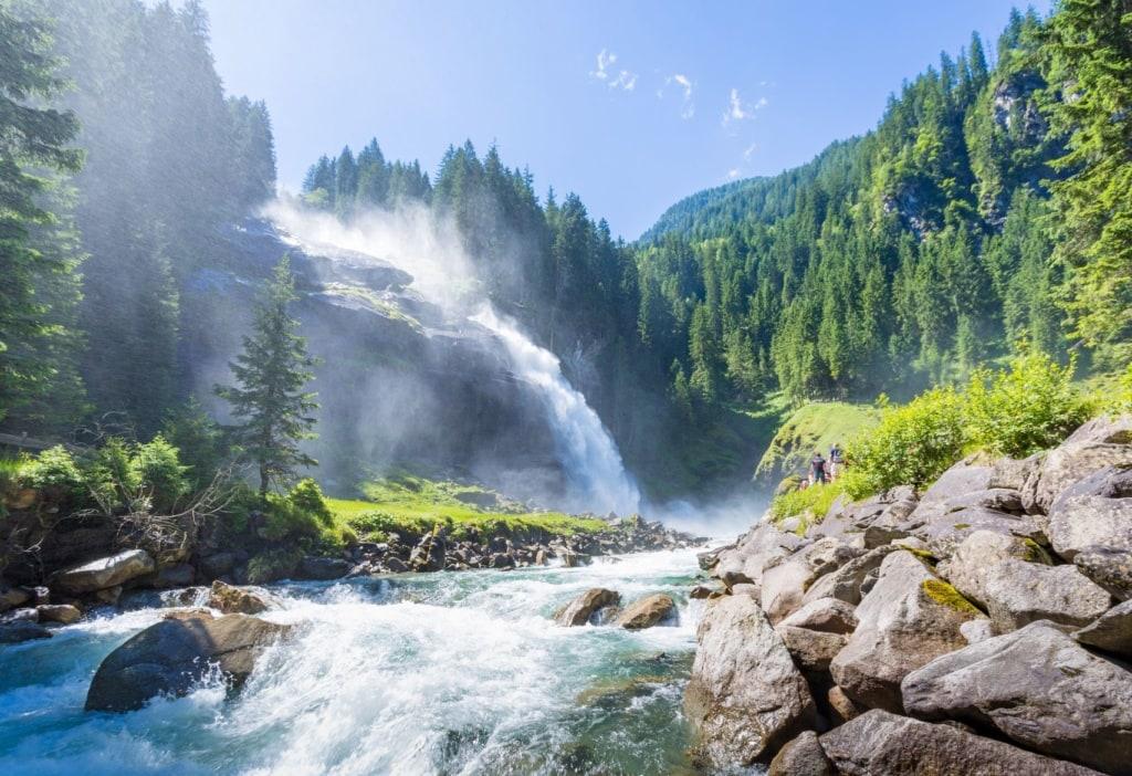 Urlaub in Österreich: Krimml-Wasserfälle im Nationalpark Hohe Tauern