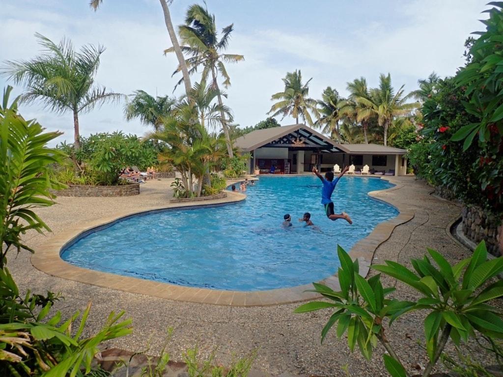Swimmingpool im Volivoli Beach Resort