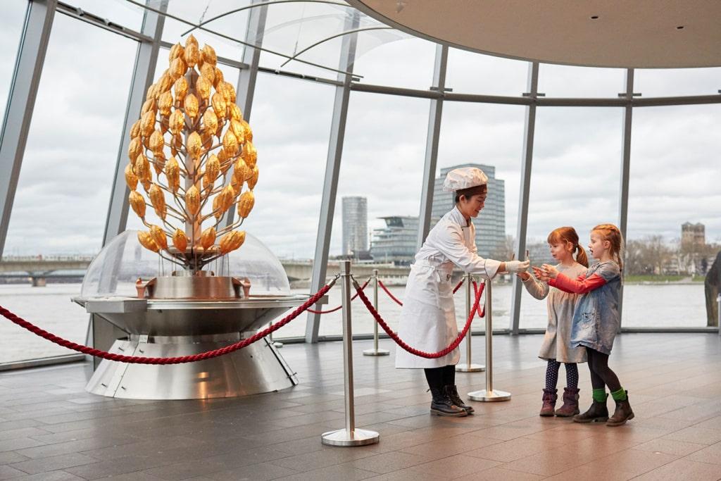Schokobrunnen im Schokomuseum in Köln