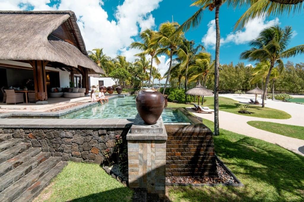 Spa und Pool im Shangri-La's Le Touessrok auf Mauritius