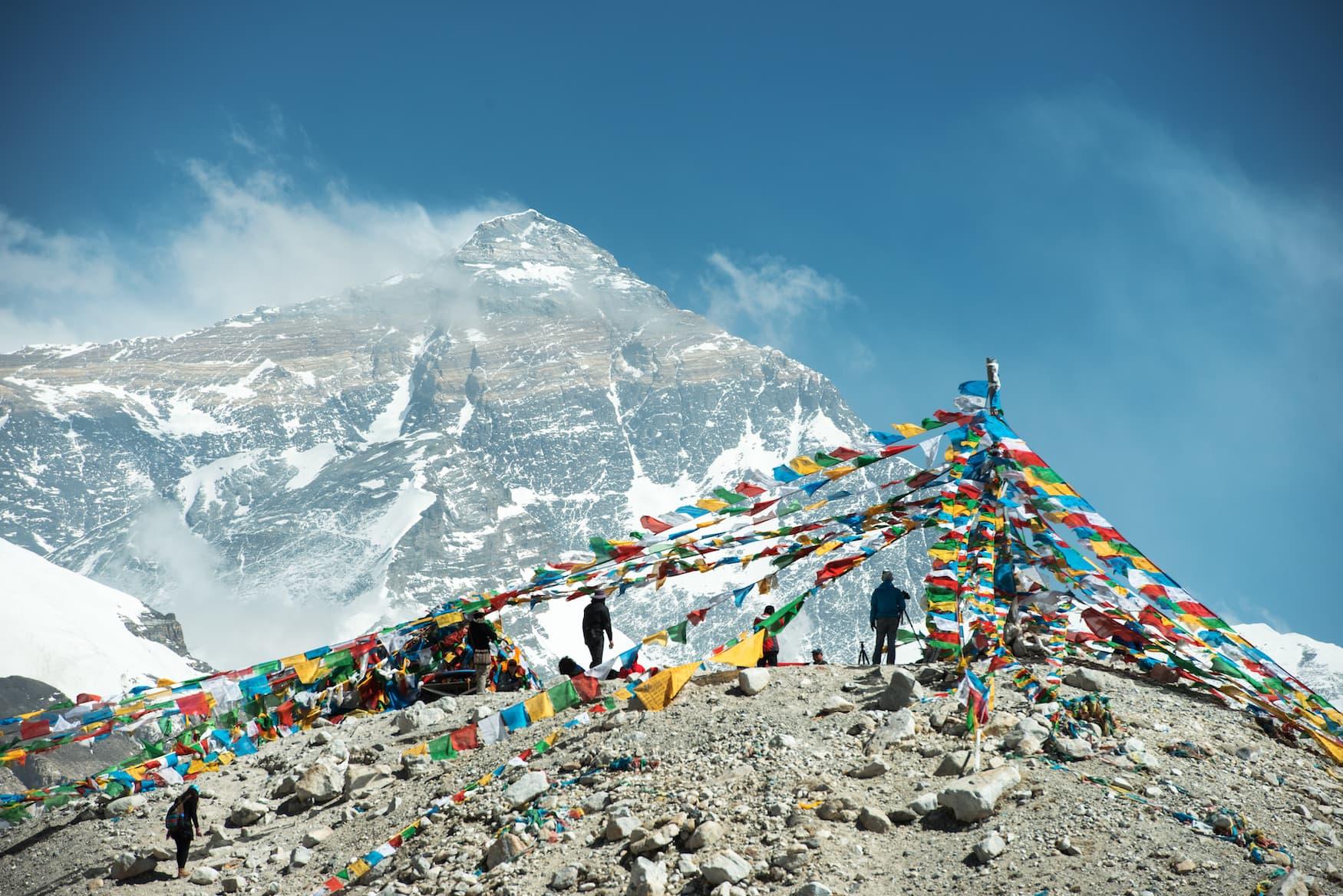 Bergsteiger haben den Gipfel des Mount Everest im Himalaya-Gebirge in Nepal erreicht