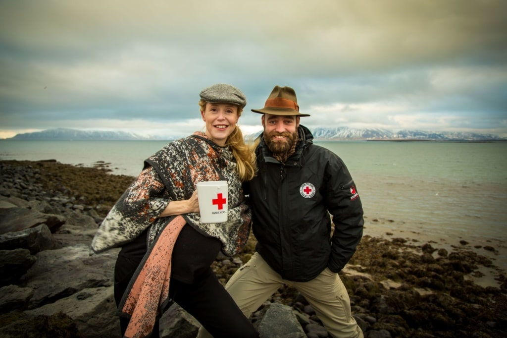 Thor Pedersen mit Frau in Grönland