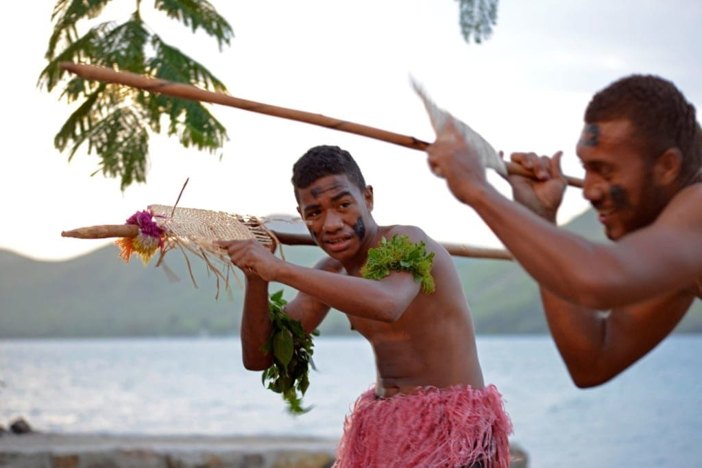 Traditioneller Tanz auf den Fiji-Inseln