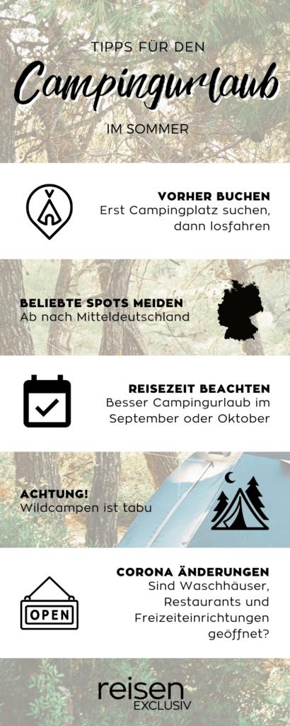 Grafik: Tipps für den Campingurlaub in Deutschland