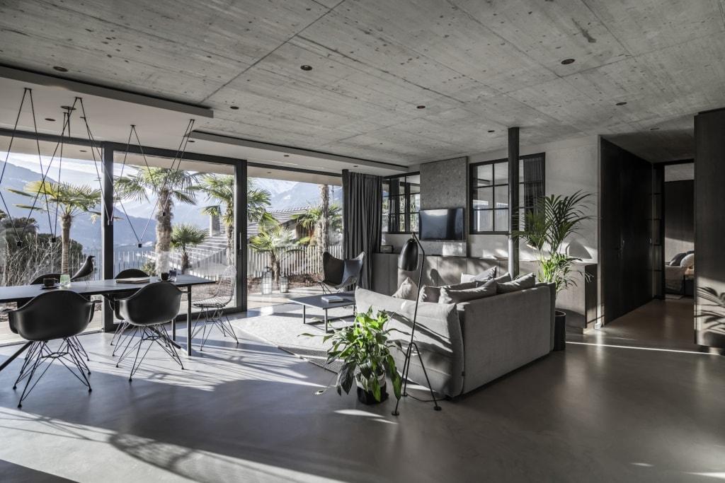 Das Apartment 7 in Südtirol ist eines der schönsten Architekturhotels