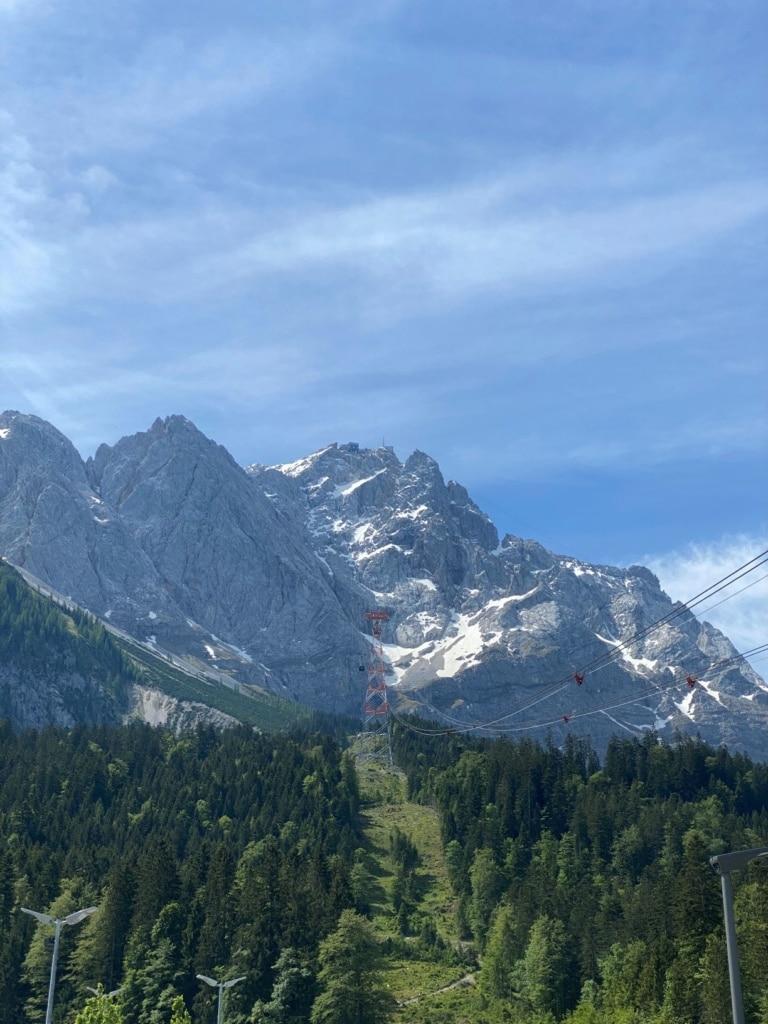 Blick auf Zugspitze vom Tal
