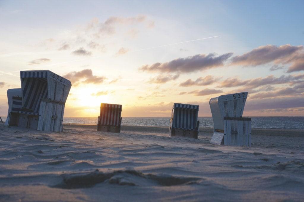 Die Sonnenuntergänge an Baltrums Strand bleiben unvergessen!